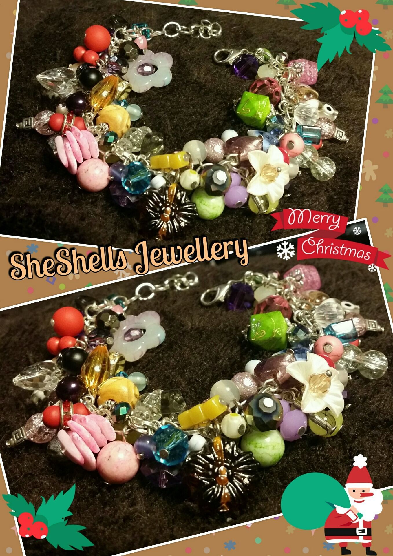 Bespoke commision for a client - Fully Loaded Mixed Colours Bracelet - £10