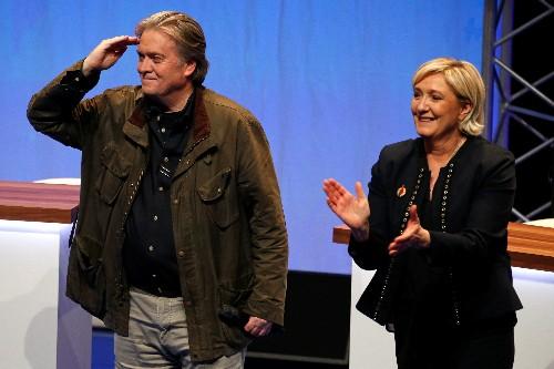 Ex-Trump aide Bannon praises Marine Le Pen's campaign