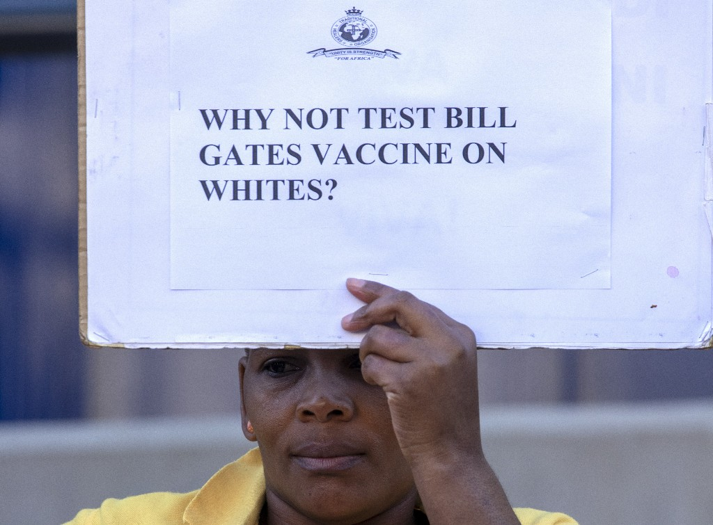 Protest versus Africa's 1st COVID-19 vaccine test shows fear