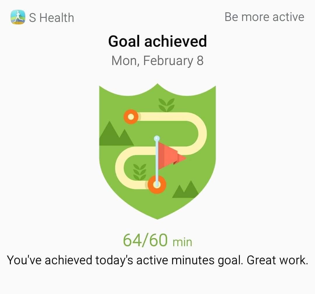 I achieved a goal