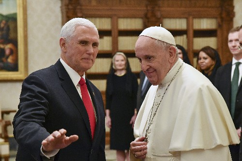 US Vice President Pence to Pope Francis: You made me a hero