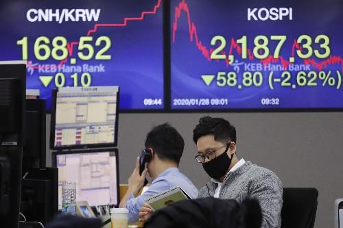 US stocks tumble amid global sell-off; Dow falls 430