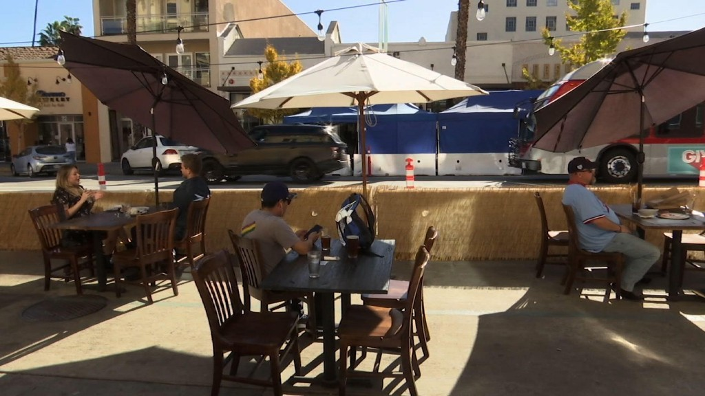 California city keeps outdoor dining as virus spikes