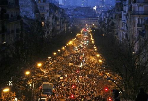 Massive March for Victims in Paris