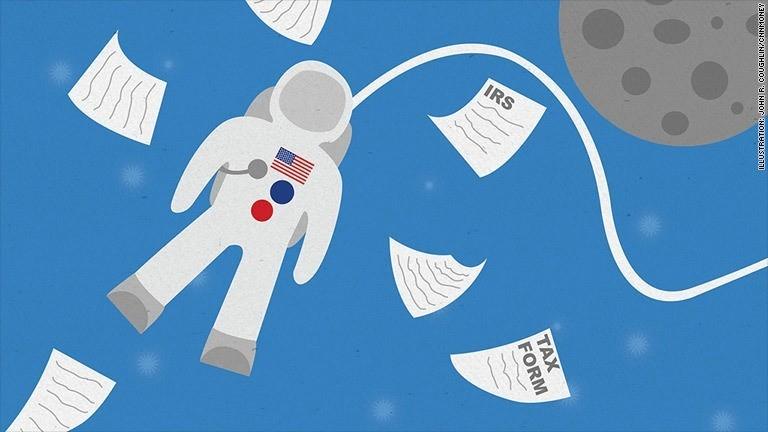 Nobody escapes U.S. taxes - even astronauts