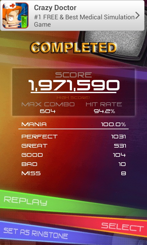 My Score on Music Hero... A7X - a little piece of heaven #GameTime
