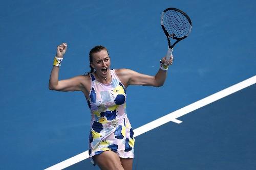 Kvitova silences 'soccer' crowd to beat Sakkari in Melbourne