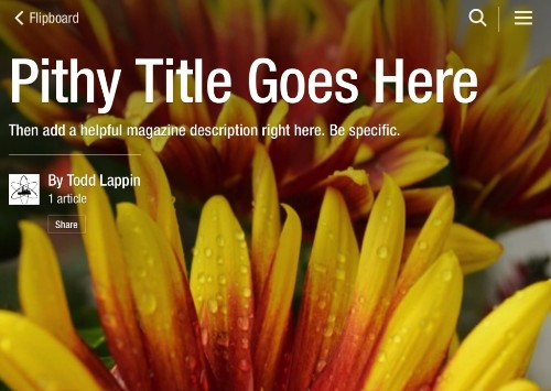 How to Craft an Awesome Title and Description for Your Flipboard Magazine
