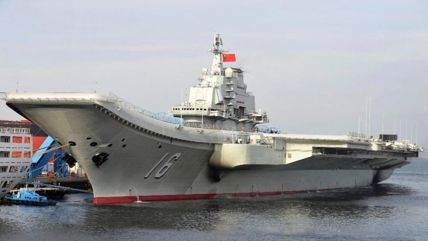 China's 1st aircraft carrier sails into South China Sea