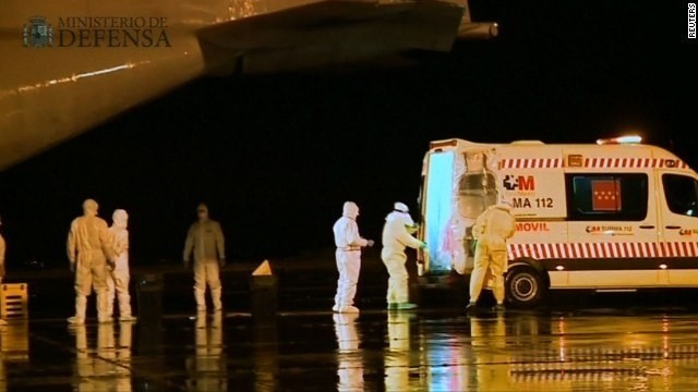 1st case of contracting Ebola outside Africa