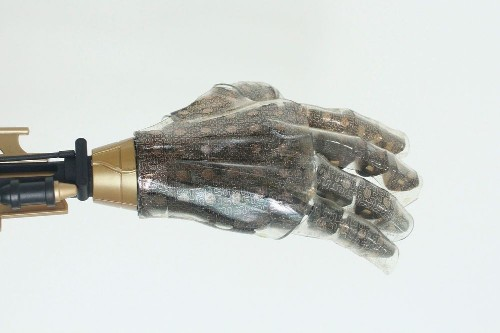 Stretchy Artificial Skin Lets Prosthetic Hand Sense Heat, Humidity, and Pressure