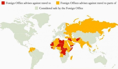 Most dangerous countries for tourists to visit