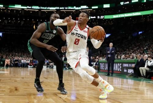 NBA roundup: Westbrook scores 41 as Rockets edge Celtics in OT