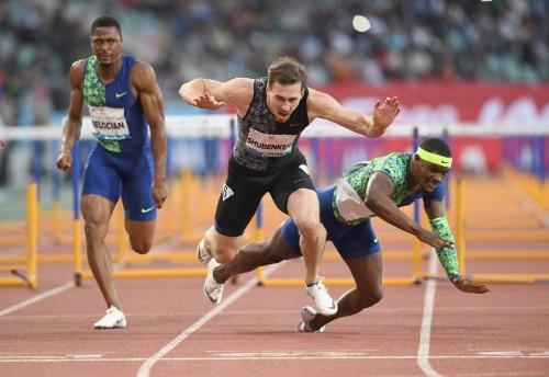 Athletics: Falling Shubenkov edges McLeod in dramatic hurdles