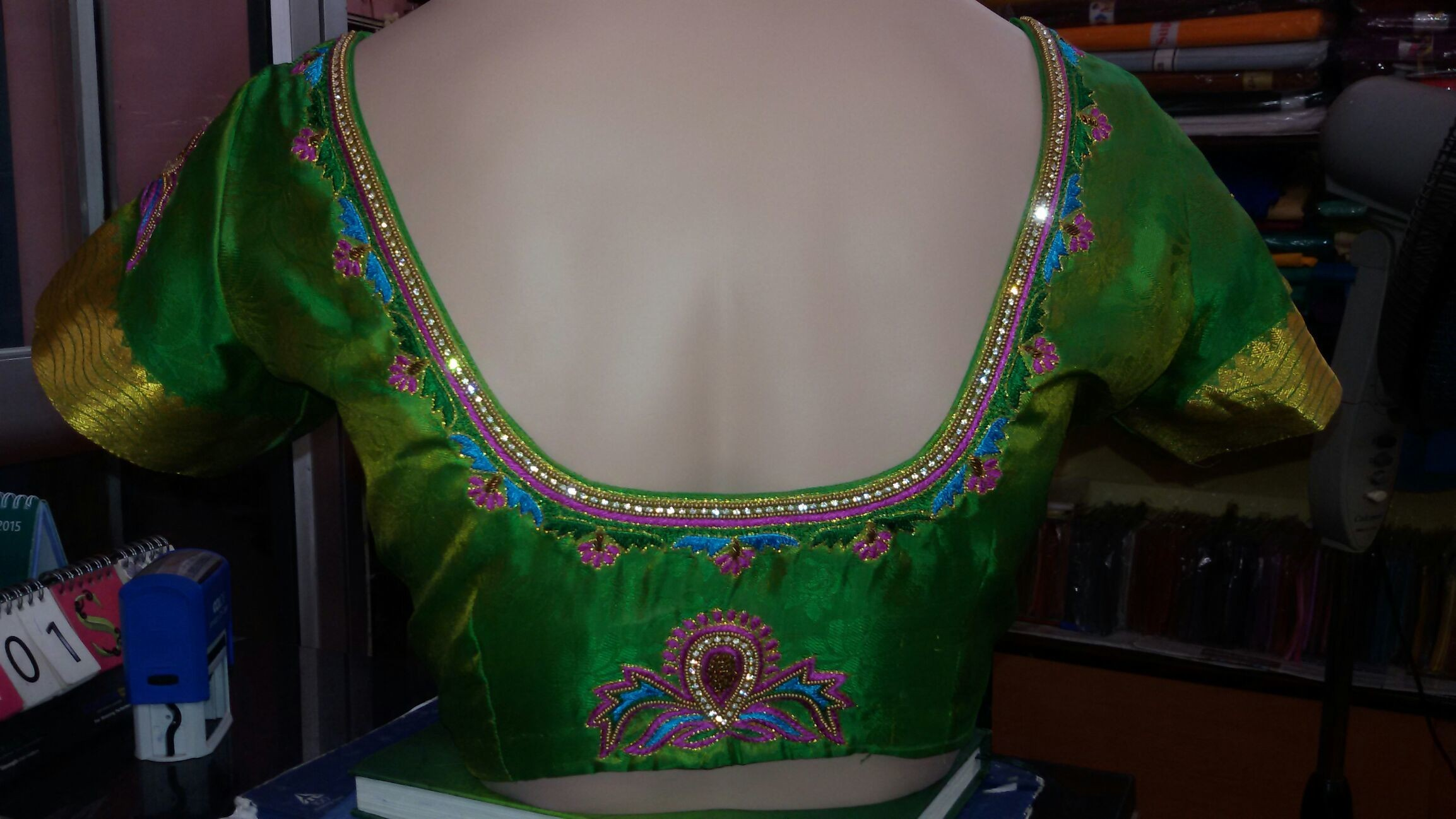 Embroidery back