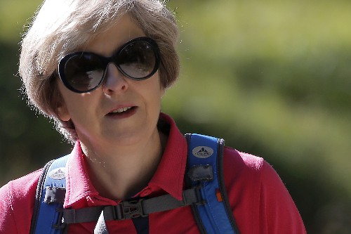 Retreating Swiss glacier spurred May's new 2050 climate goal