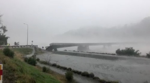 New Zealand bridge washed away in severe storm