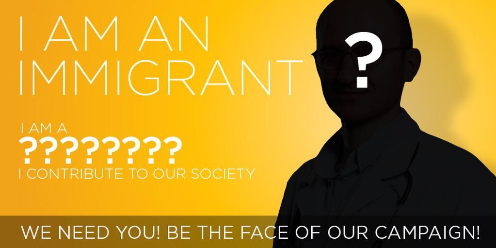 Join in. Celebrate immigrants. Put your face on the poster & RT: #MigrantsMoveMe