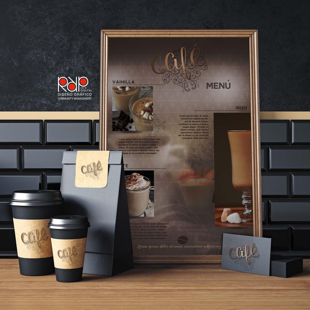 """#DiseñoGrafico #rrpccsdigital PROPUESTA AFICHE """"MENU CAFE """" Photoshop/"""