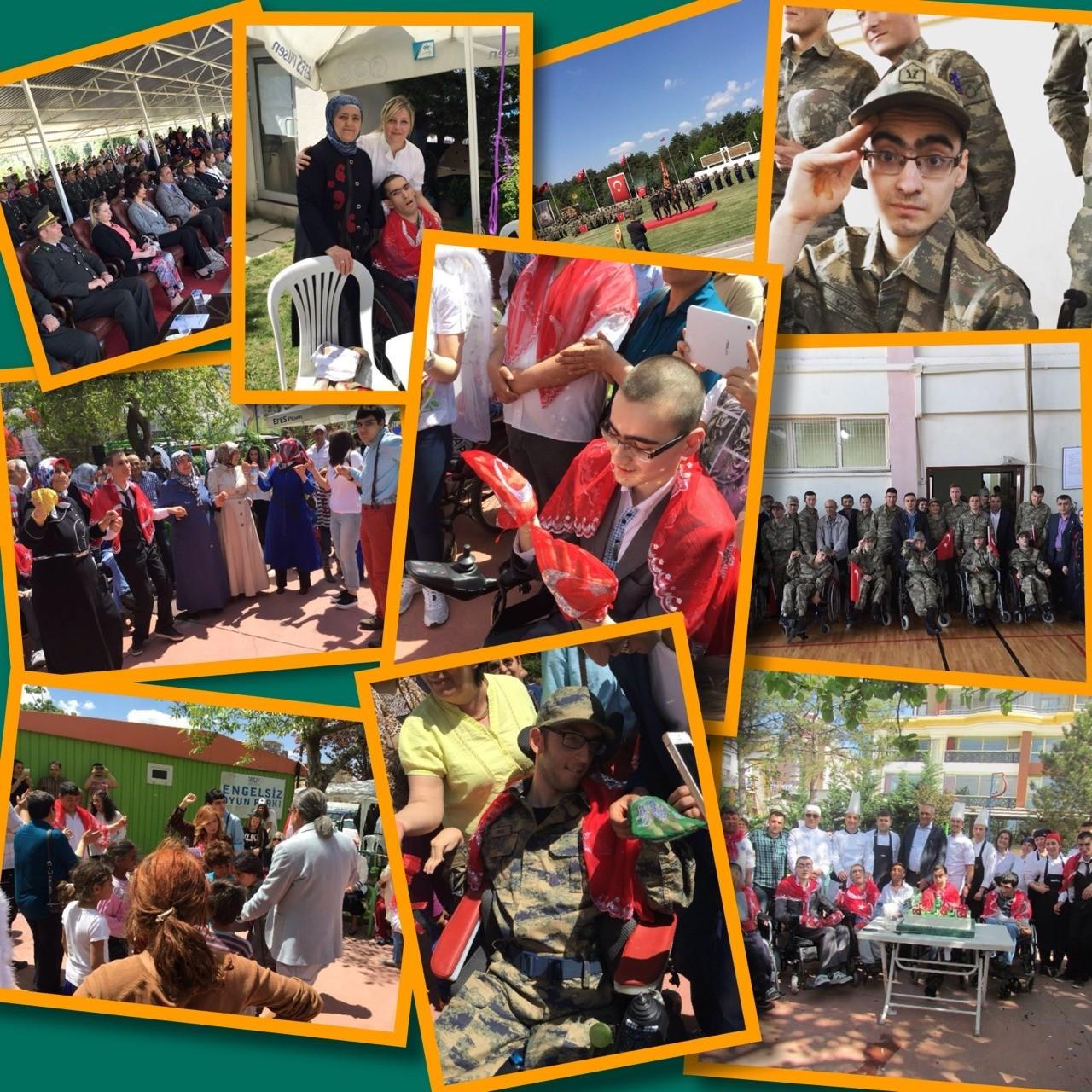 SERÇEV GENÇLERİ ASKERDE... Dernek merkezi-Engelsiz oyun parkın'da yemekli,davullu-zurnalı askerlere kına eğlencesi yapılarak,konvoyla askerler birliklerine teslim edildi.