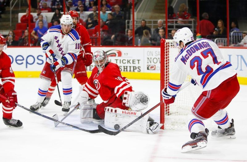 Rangers, Hurricanes back in action in Toronto; Dumba takes knee in Edmonton