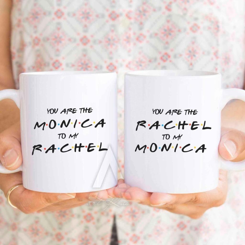 "best friend cups ""you are the monica to my rachel"" christmas gifts, friends tv show, f.r.i.e.n.d.s, friends tv show mug, bff mugs MU295"