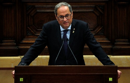 Street clashes spur Catalan leader to call for Madrid talks