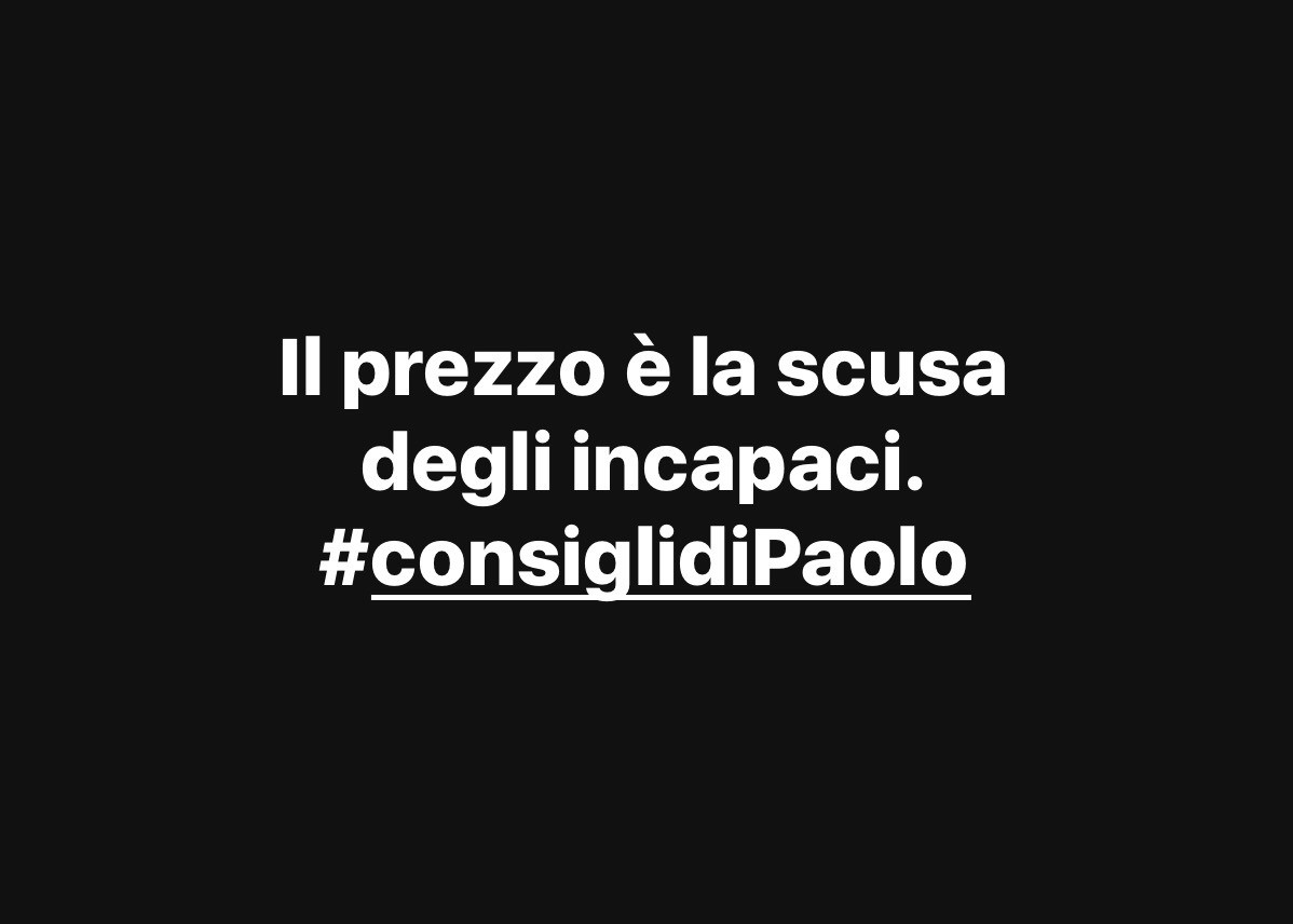 #consiglidiPaolo