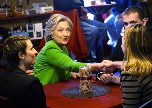 Hillary Clinton Hits the Campaign Trail in Iowa