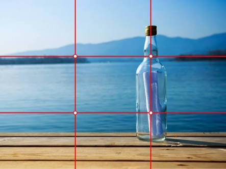 Rule of thirds is when you split a shot into 9 squares (3x3). The main attraction of an object is typically placed in the middle 3 squares