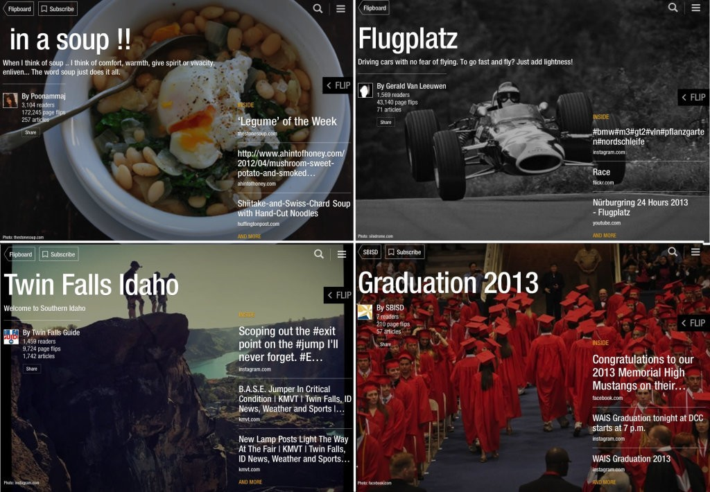Five of the Most Popular Types of Flipboard Magazine