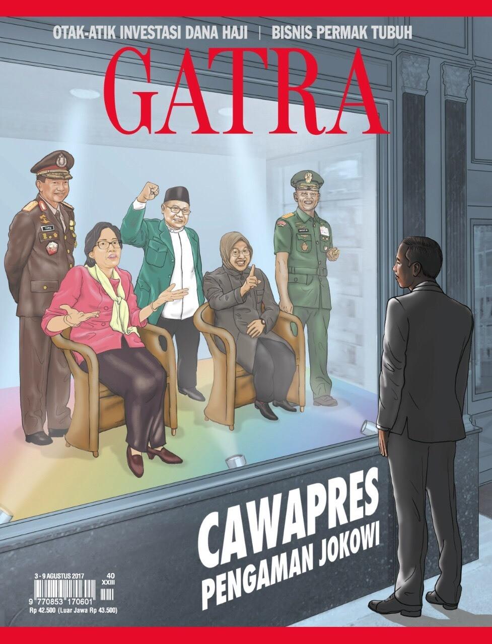 Bursa Cawapres Pengaman Jokowi Jika terealisasi, duet Prabowo-AHY akan menyulitkan Joko Widodo di Pilpres 2019. Petahana butuh figur cawapres yang kuat. Siapa saja kirakira kandidatnya? Baca Gatra edisi no 40 tahun ke xxiii. Beredar jumat 4 agustus 2017. #GATRA #GATRANEWS #GATRACOM #CAPRES2019
