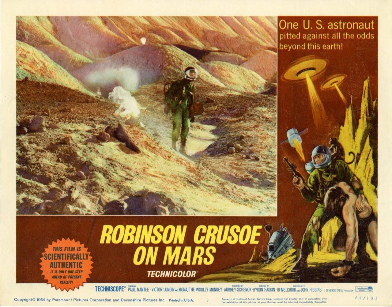 """Before there was """"The Martian"""" there was """"Robison Crusoe on Mars"""" ..."""