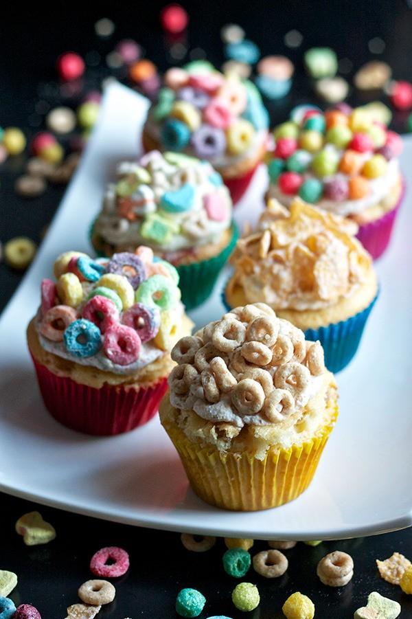 Breakfast Cereal Cupcakes