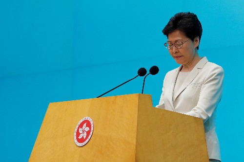 Hong Kong leader apologizes, says she has heard the people 'loud and clear'