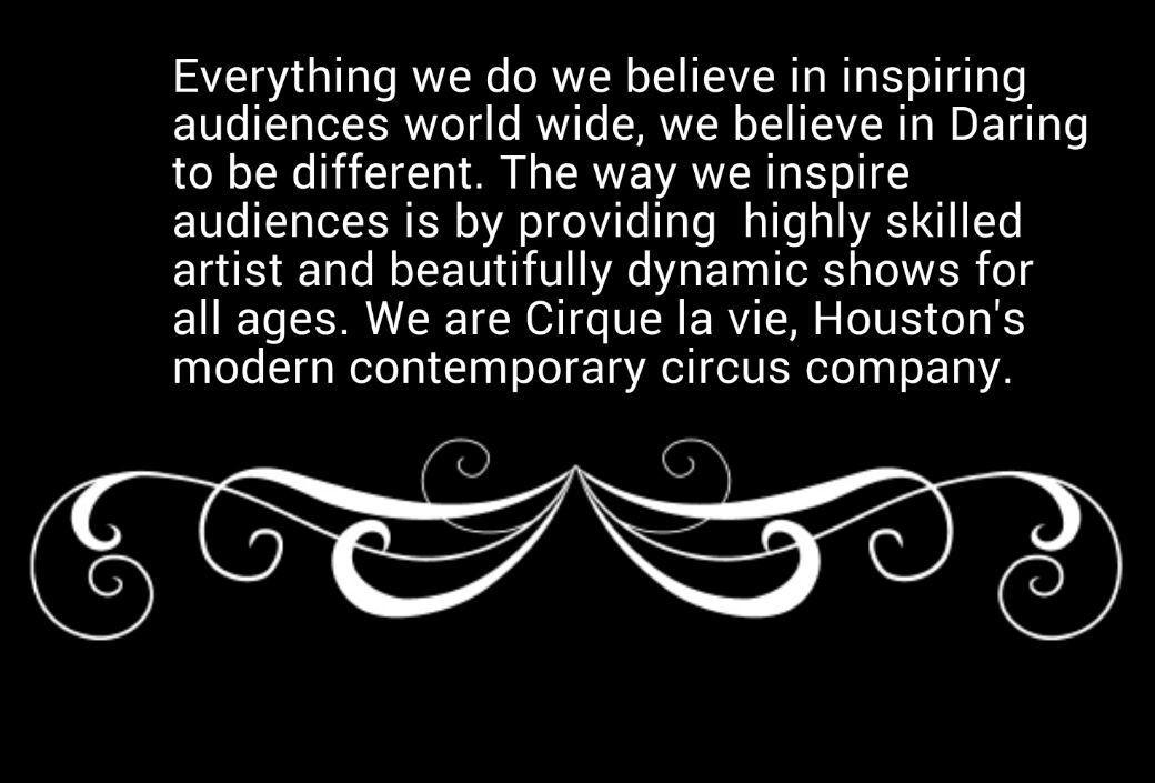 Cirque la vie's motto.