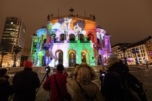 Luminale Festival Lights Up Frankfurt: Pictures
