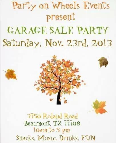 Party on Wheels Garage Sale ...