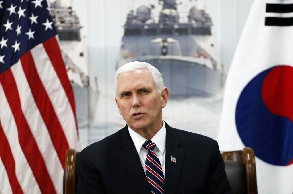 Pence: The United States is ready to talk with North Korea
