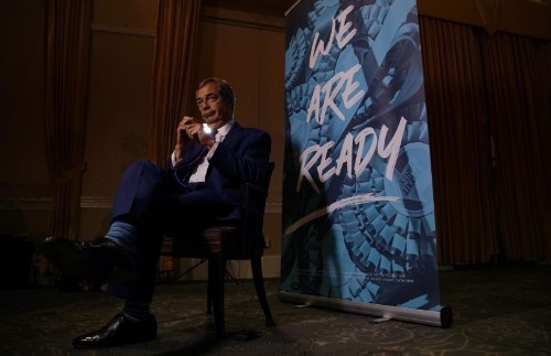 Farage says Brexit will be delayed again when PM Johnson's deal falls