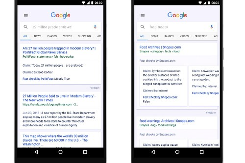 Google adds fact-check findings to search and news results