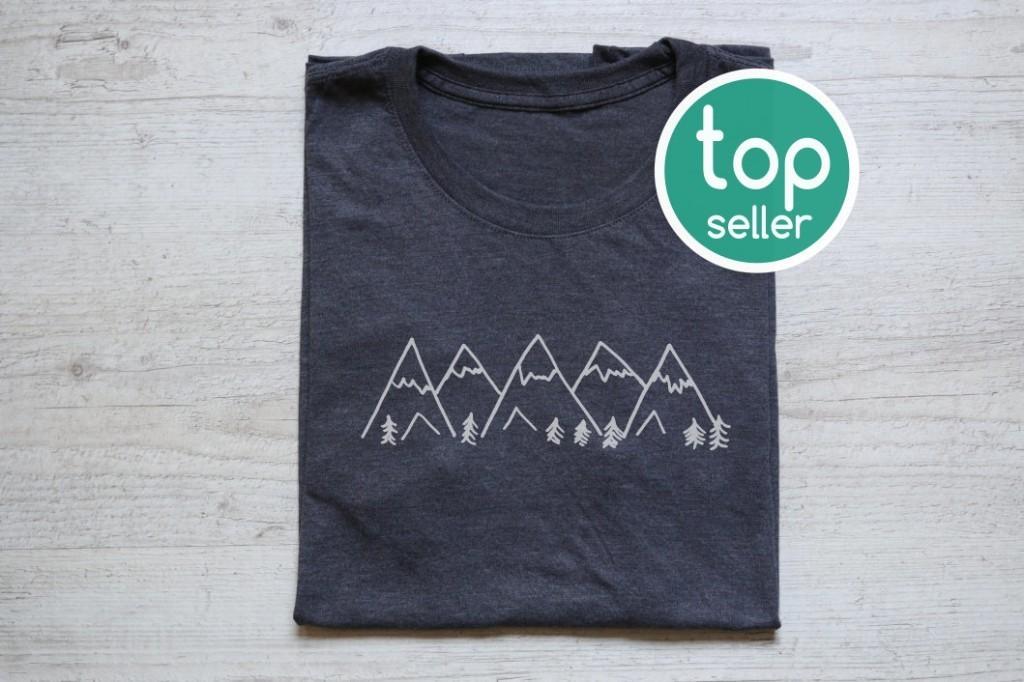 Mountains tee t-shirt shirt adult unisex soft tri-blend vintage graphic design tee hiking shirt heather dark gray
