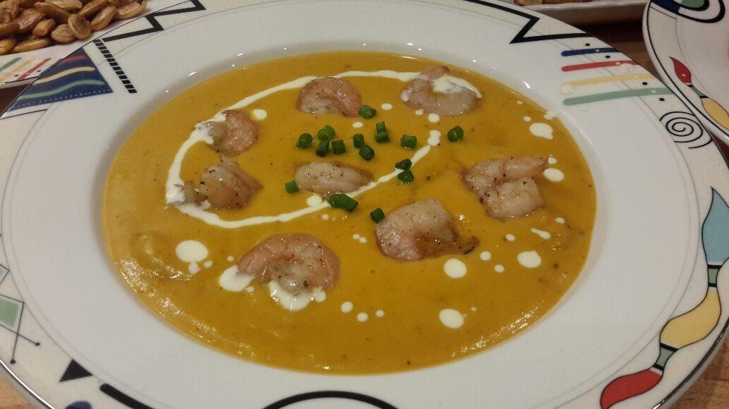 My Pumpkin soup with shrimp
