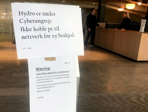 Hackers hit aluminum maker Hydro, knock some plants offline