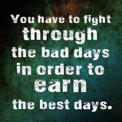 Do your best to fight through the muck...