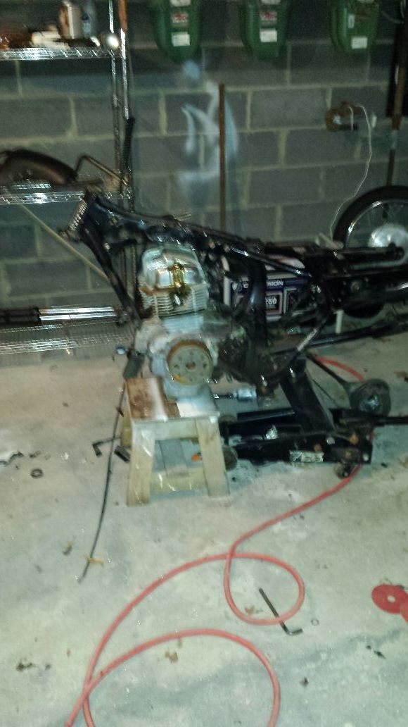 Mam o man its gonna turn into a beautiful bike some day off I only had some sponsorships. Not too many for a cafr racer