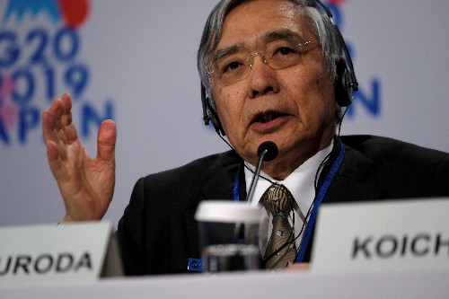 BOJ Kuroda: No talk at G20 of central banks issuing digital currencies