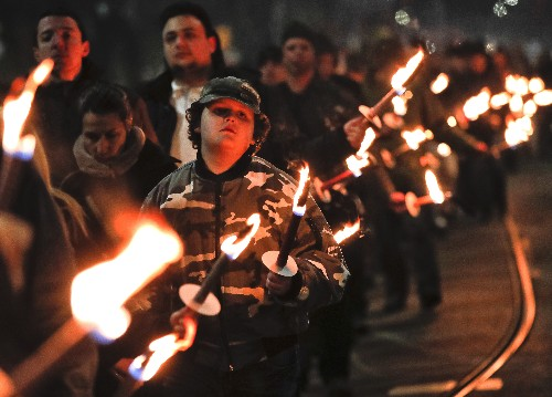 Bulgarian nationalists march in honor of pro-Nazi general