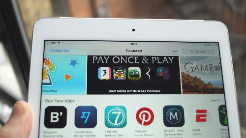 Apple promotes 'Pay Once and Play' games in App Store