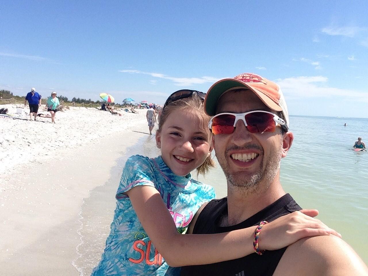 At the Florida beach